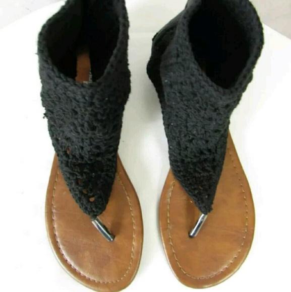 d5ec1edaed6518 Charlotte Russe Shoes - Charlotte Russe Black Ankle Cuff Gladiator Sandals